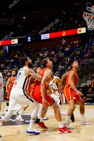 Editorial photo of Spain vs France friendly match of basketball in Malaga, Spain - 8 Jul 2021