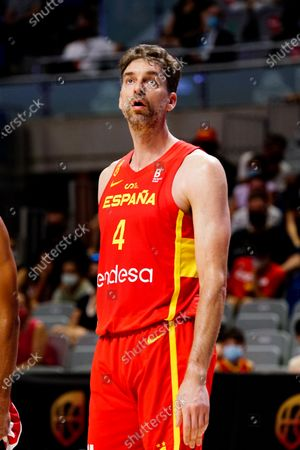 Pau Gasol of Spain seen in action during Spain vs France friendly match of basketball at Palacio de los Deportes Jose Maria Martin Carpena in Malaga prior to Tokyo 2020 Olympic Games. Final Score; Spain 86:77 France