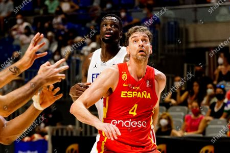 Editorial image of Spain vs France friendly match of basketball in Malaga, Spain - 8 Jul 2021
