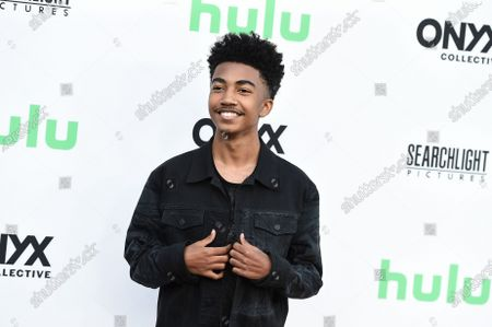 """Miles Brown arrives at the Los Angeles premiere of """"Summer of Soul"""" at The Greek Theatre on"""