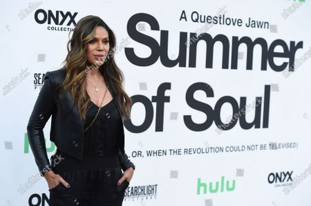 """Stock Photo of Merle Dandridge arrives at the Los Angeles premiere of """"Summer of Soul"""" at The Greek Theatre on"""