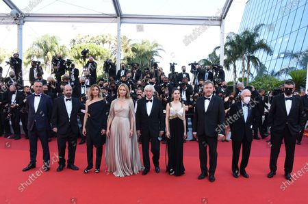 Saïd Ben Saïd, Olivier Rabourdin, Daphne Patakia, Director Paul Verhoeven, Virginie Efira, Clotilde Courau, David Birke and Michel Merkt