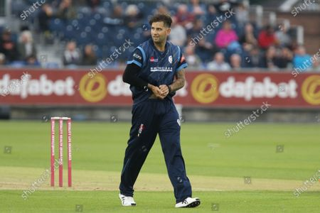 Jade Dernbach of Derbyshire seen during the Vitality Blast T20 match between Durham County Cricket Club and Derbyshire County Cricket Club at Emirates Riverside, Chester le Street on Friday 9th July 2021. (Credit: Will Matthews   MI News)