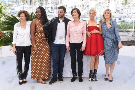 Aissatou Diallo Sagna, Pio Marmai, Catherine Corsini, Marina Fois and Valeria Bruni Tedeschi
