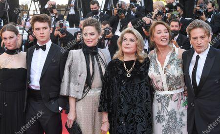 Lou Lampros, Oscar Morgan, Melissa George, Catherine Deneuve, Emmanuelle Bercot and Benoit Magimel