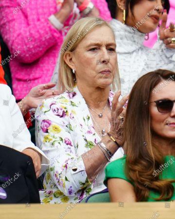 Martina Navratilova in the Royal Box on Centre Court