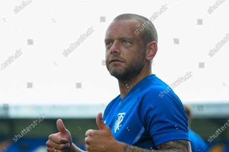 Tranmere Rovers midfielder Jay Spearing (8) gestures before the Pre-Season Friendly match between Tranmere Rovers and Rangers at Prenton Park, Birkenhead
