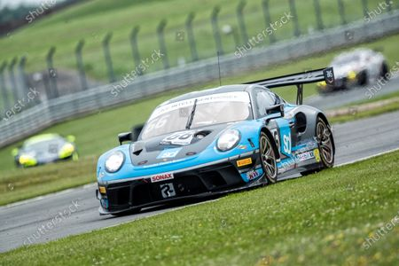 Nick Jones & Scott Malvern, Porsche 911 GT3 R, Team Parker Racing out of Fogarty Esses during the British GT & F3 Championship on 10th July 2021