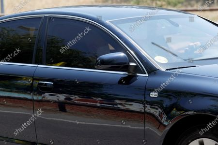 Stock Photo of Spain's Prime Minister Pedro Sanchez arrives on board a official car to the Zarzuela Palace in Madrid, Spain, 10 July 2021, to inform King Felipe VI on the changes in the Cabinet. Several ministers, such as Deputy Prime Minister Carmen Calvo and Science, Innovation and Universities' Minister Pedro Duque have been removed from their posts, while the ministers coming from Podemos, the party with which PSOE agreed a coalition so as to make possible to form a government, keep their positions, as reports state.