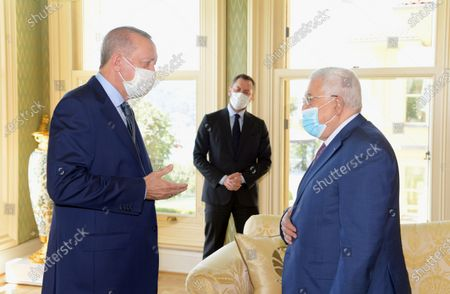 Palestinian President Mahmoud Abbas meets with Turkish President Recep Tayyip Erdogan, in Istanbul, Turkey, 10 July 2021.