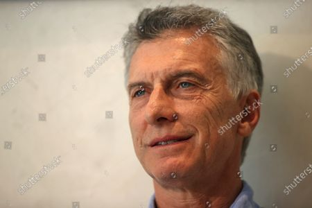 Editorial photo of Former president of Argentina Mauricio Macri interview in Madrid, Spain - 10 Jul 2021