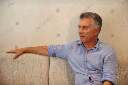 Stock Photo of Former president of Argentina Mauricio Macri poses for the photographers during an interview to International News Agency EFE held in Madrid, Spain, 10 July 2021. Macri denied sending 'lethal' munition to Bolivia to suppress the demonstrations against the government of the president Evo Morales in November 2019 and denounced a 'persecution' from current Argentinian government against him and his family.