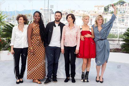Elizabeth Perez, Aissatou Diallo Sagna, Pio Marmai, Director Catherine Corsini, Marina Fois and Valeria Bruni Tedeschi