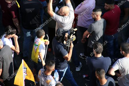 Editorial image of Palestinian supporters of Fatah rally in support of president Mahmud Abbas, Ramallah, West Bank, Palestinian Territory - 10 Jul 2021