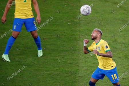 Brazil's Neymar Jr in action against Argentina, during the Copa America 2021 final between Argentina and Brazil at the Maracana Stadium in Rio de Janeiro, Brazil, 10 July 2021.