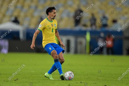 Marquinhos Brazil player during a match against Argentina at the Maracana stadium for the Copa America 2021, this Saturday (10).
