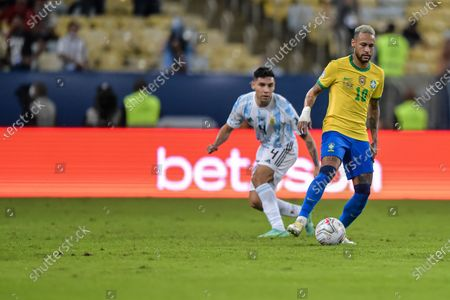 Neymar Brazil player during a match against Argentina at the Maracana stadium for the Copa America 2021, this Saturday (10).