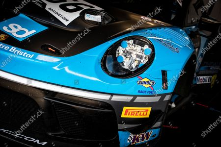 Stock Image of Livery of the Nick Jones & Scott Malvern, Porsche 911 GT3 R, Team Parker Racing during the British GT & F3 Championship on 11th July 2021