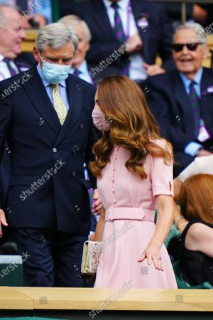 Stock Image of Catherine Duchess of Cambridge and Michael Middleton in the Centre Court Royal Box