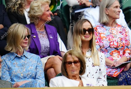 Lady Helen Taylor and Lady Amelia Windsor in the Centre Court Royal Box