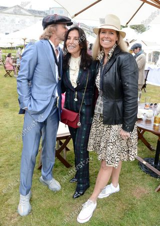 Paul Stewart, Olivia Harrison and Guest