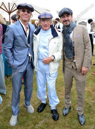 Paul Stewart, Jackie Stewart and Dhani Harrison
