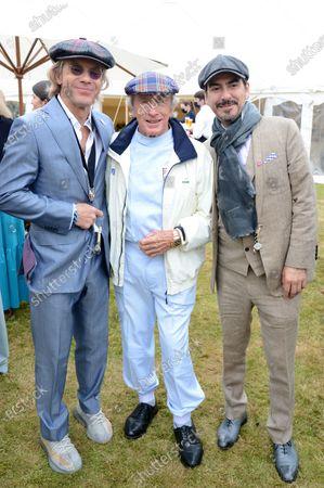 Stock Image of Paul Stewart, Jackie Stewart and Dhani Harrison
