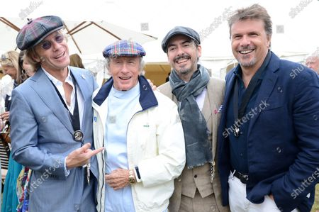 Stock Photo of Paul Stewart, Jackie Stewart, Dhani Harrison and Mark Stewart