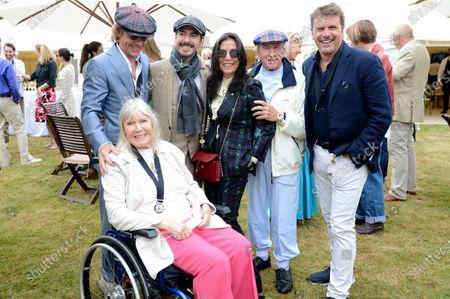 Paul Stewart, Helen Stewart, Dhani Harrison, Olivia Harrison, Jackie Stewart and Mark Stewart
