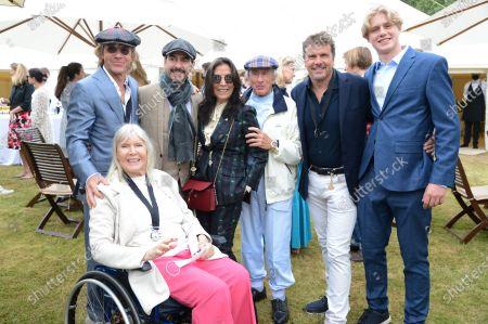 Stock Picture of Paul Stewart, Helen Stewart, Dhani Harrison, Olivia Harrison, Jackie Stewart, Mark Stewart and Guest
