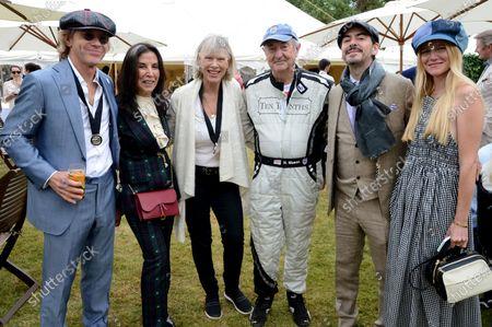 Paul Stewart, Olivia Harrison, Nettie Mason, Nick Mason, Dhani Harrison and Guest