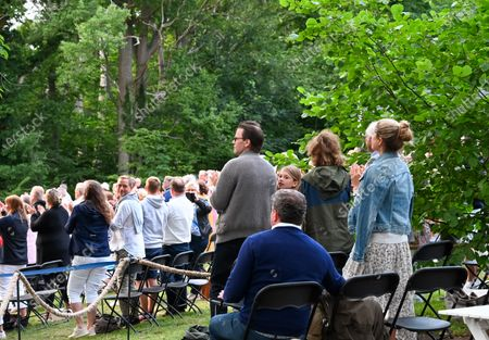 King Carl Gustaf, Queen Silvia, Prince Daniel, Princess Estelle, Princess Madeleine, Princess Leonore and Christopher O´Neill in the audience during a Solliden sessions concert with Swedish artist Lena Philipsson at Solliden Palace in Borgholm, Sweden, on July 10, 2021.