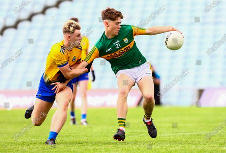 Roscommon vs Kerry. Kerry's Marc Manning in action against Roscommon's Mark Watson