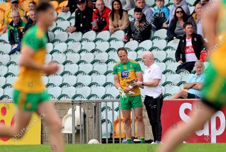 Derry vs Donegal. Donegal's Michael Murphy introduced as a second half sub by manager Declan Bonner