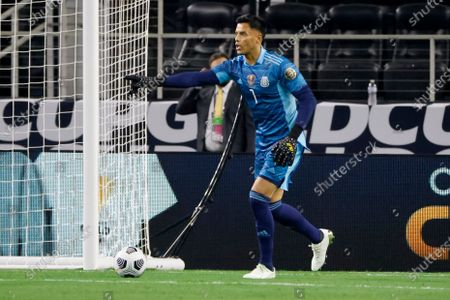 Mexico goalkeeper Alfredo Talavera (1) directs the defense a they played Trinidad and Tobago during the first half of a CONCACAF Gold Cup Group A soccer match in Arlington, Texas