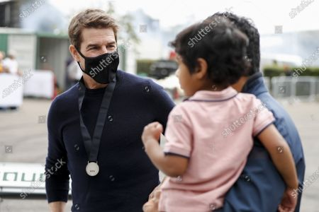 Stock Picture of Tom Cruise and Karun Chandhok during the 2021