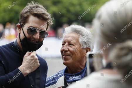 Stock Photo of Tom Cruise and Mario Andretti during the 2021