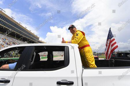 Ryan Newman is shown before a NASCAR Cup Series auto race, in Hampton, Ga
