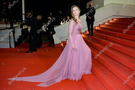 Melissa George arrives for the screening of 'Bergman Island' during the 74th annual Cannes Film Festival, in Cannes, France, 11 July 2021. The movie is presented in the Official Competition of the festival which runs from 06 to 17 July.