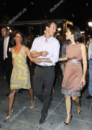 Prince Joachim of Denmark with his wife Princess Marie and Crown Princess Mary