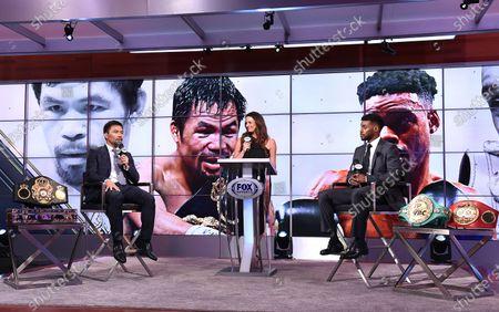Manny Pacquiao, Errol Spence Jr., Heidi Androl