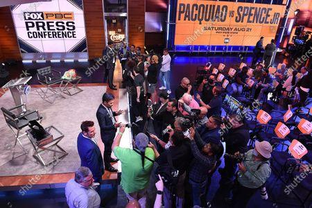Editorial picture of Manny Pacquiao and Errol Spence Jr. Fox Sports Press Conference, Los Angeles, California, USA - 11 Jul 2021