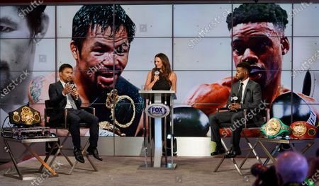 Editorial image of Pacquiao Spence Box, Los Angeles, United States - 11 Jul 2021