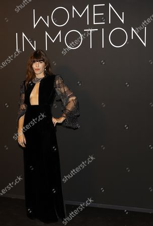 Lou Doillon poses during the Kering Women in Motion Awards at the 74th annual Cannes Film Festival, in Cannes, France, 11 July 2021. The festival runs from 06 to 17 July.
