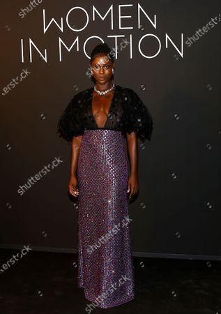 Jodie Turner Smith poses during the Kering Women in Motion Awards at the 74th annual Cannes Film Festival, in Cannes, France, 11 July 2021. The festival runs from 06 to 17 July.