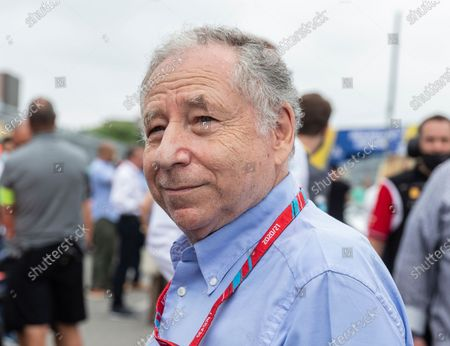 President of FIA Jean Todt seen during track access by press and VIP before 2nd day race start at Red Hook, Brooklyn street circuit