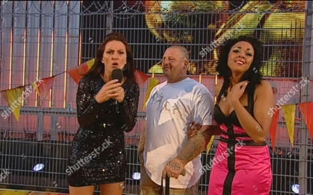 Stock Picture of Davina McCall with Steve Gill and Rachel Ifon