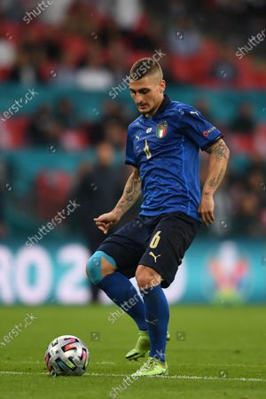 """Marco Verratti (Italy)                     during the Uefa  """"European Championship 2020 Finals match between  Italy 4-3 England  at Wembley Stadium in London, England."""