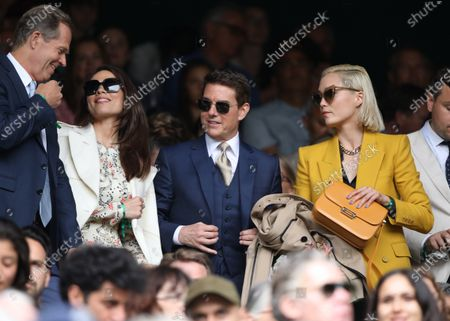 Hayley Atwell, Tomo Cruise and Pom Klementieff, at Wimbledon on Ladies Final Day, with the Final taking place on Centre Court