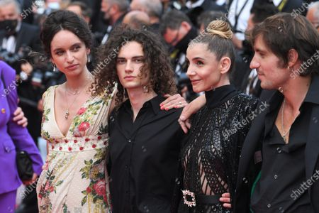 Romeo Creton, Clotilde Courau and Maxime Roy